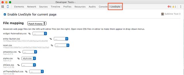 Chrome Emmet LiveStyle