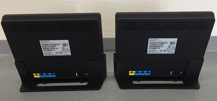 HG8045DとHG8045Qの後ろ