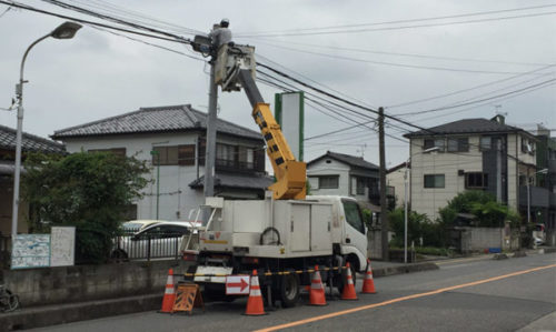 【NURO光】2018年7月 光回線屋外工事