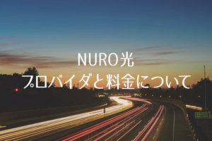 NURO光のプロバイダと料金について