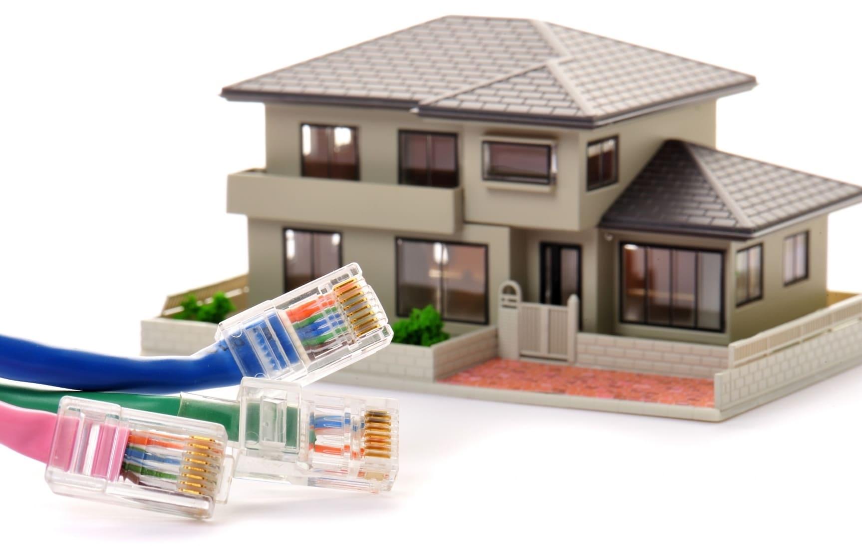 住宅に光回線を開通する工事のイメージ