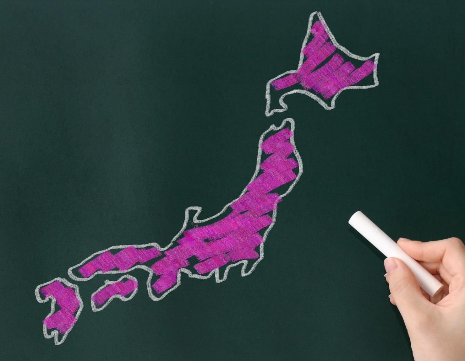 全国日本列島のイメージ