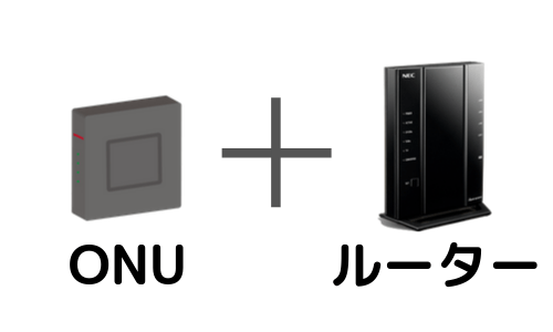 ONUとルーター接続イメージ