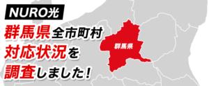 【NURO光】群馬県全市町村の対応状況を調査しました!