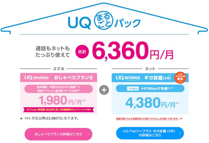 WiMAX&UQモバイルセット割-1