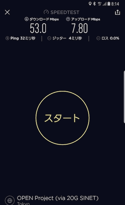 UQモバイル朝の通信速度キャプチャ