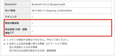 UQモバイル端末HUAWEI P20 liteの緊急地震速報対応キャプチャ