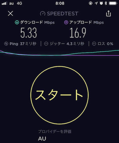 UQモバイルの朝の通信速度を計測したキャプチャ画像-1