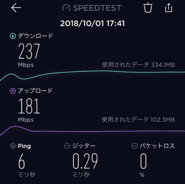 【NURO光】iPhone 6でWi-Fi速度の計測