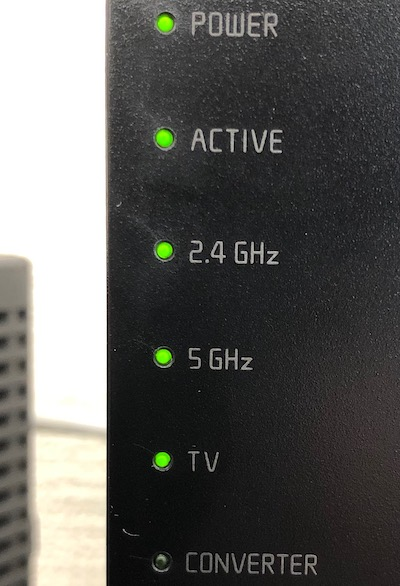 Wi-Fiルーター点灯イメージ