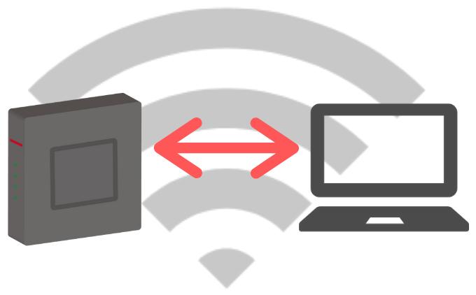 ルーターとPCがWi-Fi接続されるイメージ