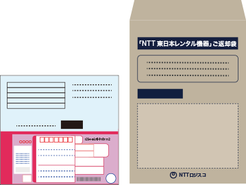NTT機器を梱包し発送する