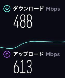 ドコモ光有線LAN速度の計測結果・夜18時