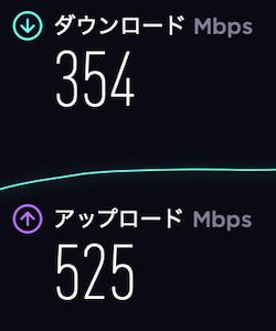 ドコモ光無線LAN速度の計測結果・朝8時