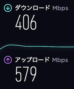 ドコモ光無線LAN速度の計測結果・夜18時