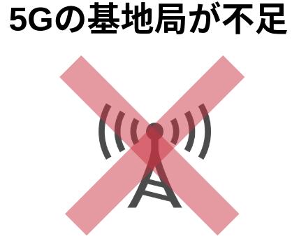 5Gの基地局が不足している