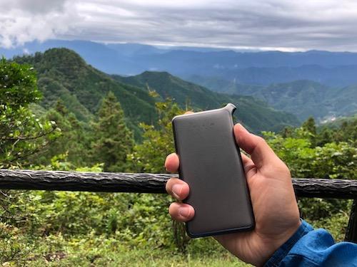 どんなときもWiFiが城峯山神社境内で使えた画像