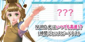 NURO光はいつでも高速なの!?1時間ごとに複数日でスピードテストした!