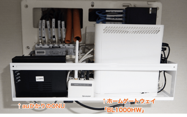[auひかり]ONUと、ホームゲートウェイ「NEC製 Aterm BL1000HW」